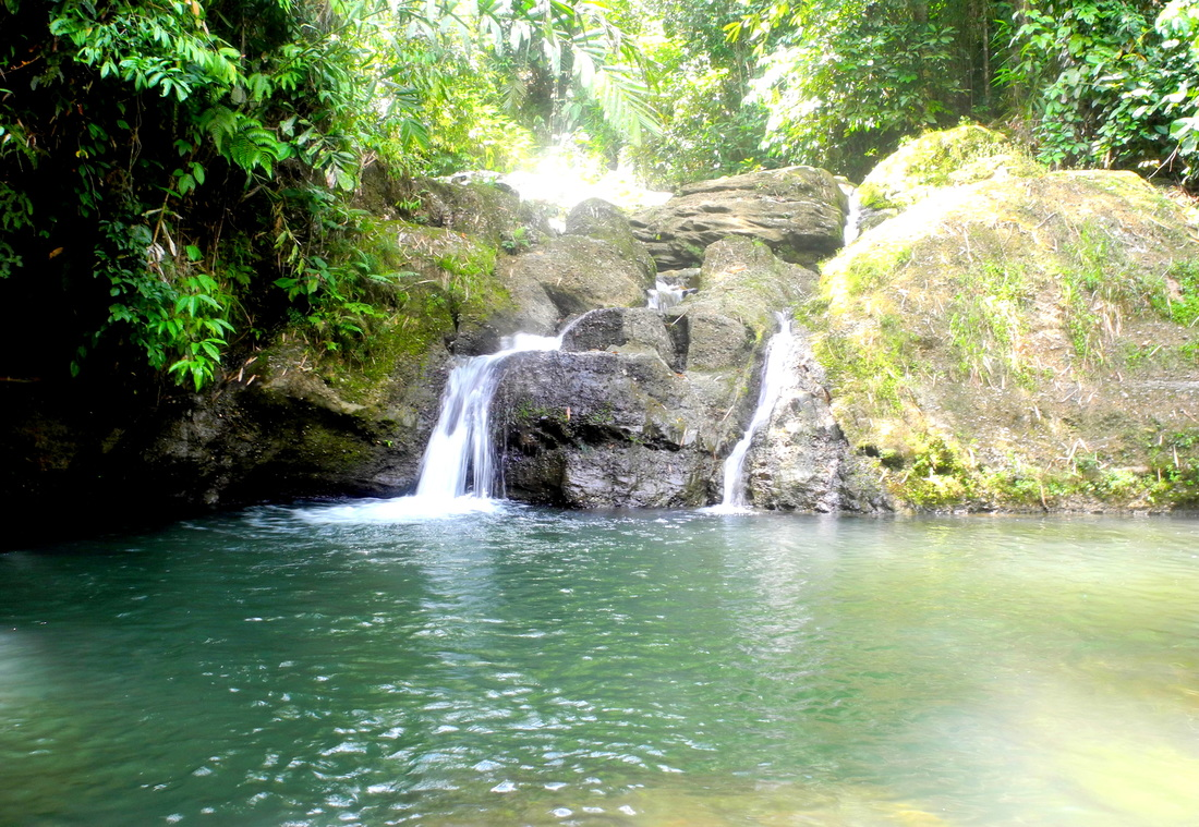 One of the deeper waterfalls in Kampung Parang, Kuching with Backyard Tour Malaysia