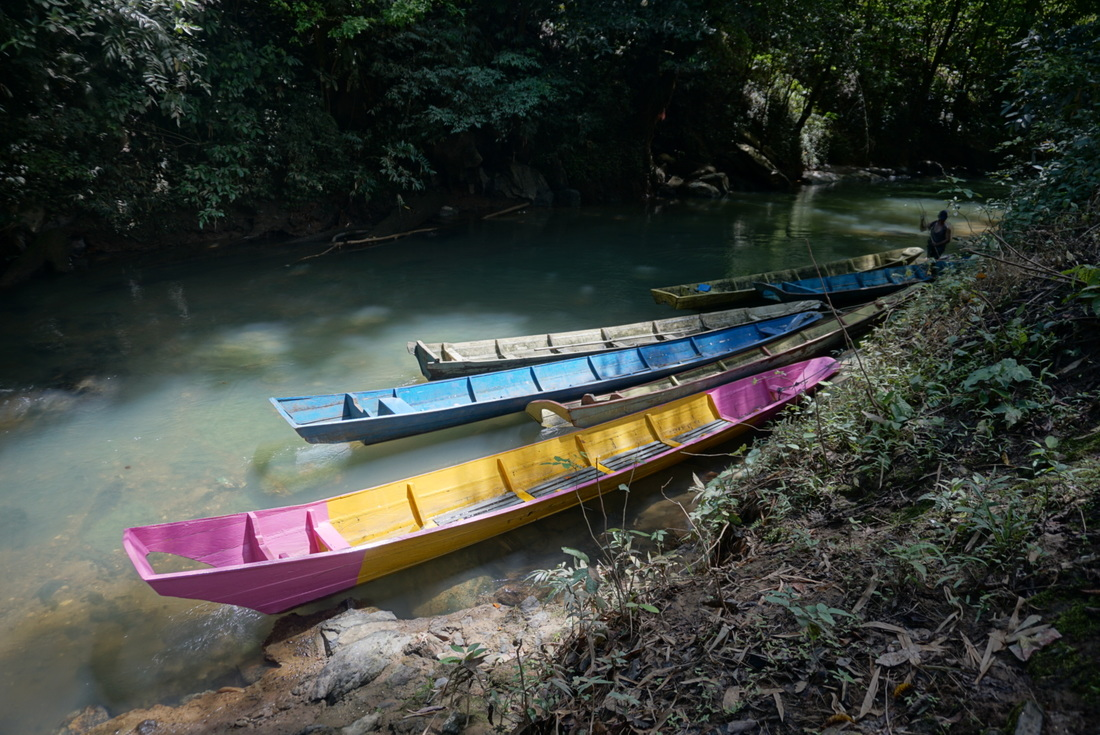 Boats in Giam river