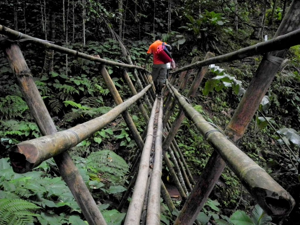 Bamboo bridge in Kiding Village with Backyard Tour Malaysia
