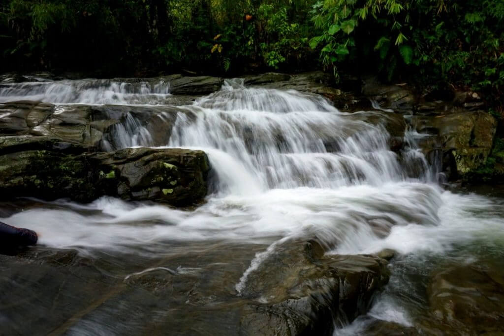 A beautiful cascading waterfall in Parang Village, Kuching