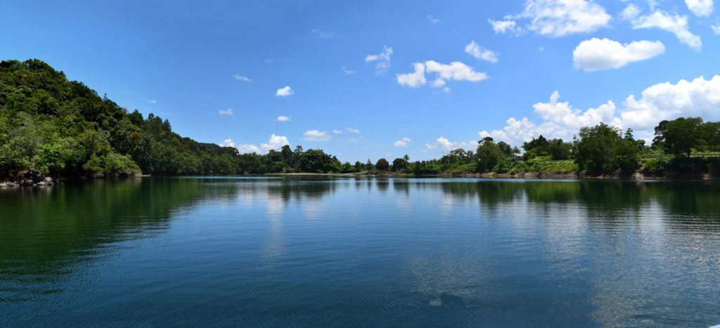 Blue Lake in Bau Town, the gold town with Backyard Tour Malaysia