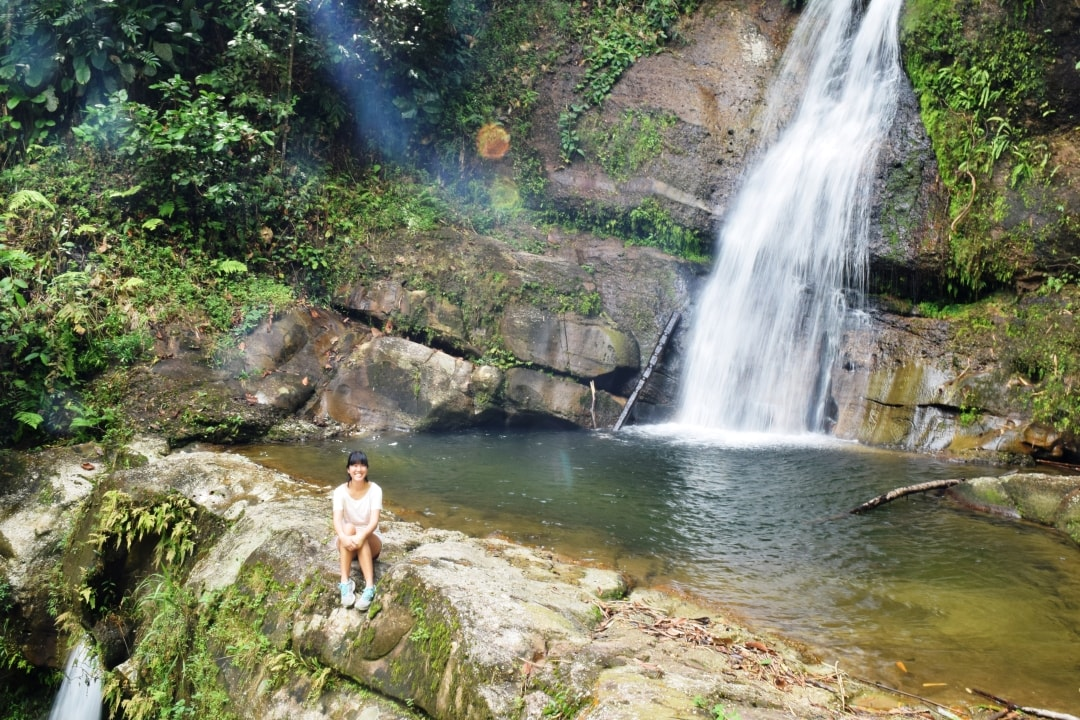 Enjoying nature after short waterfall trekking 30 mins with Backyard Tour Malaysia