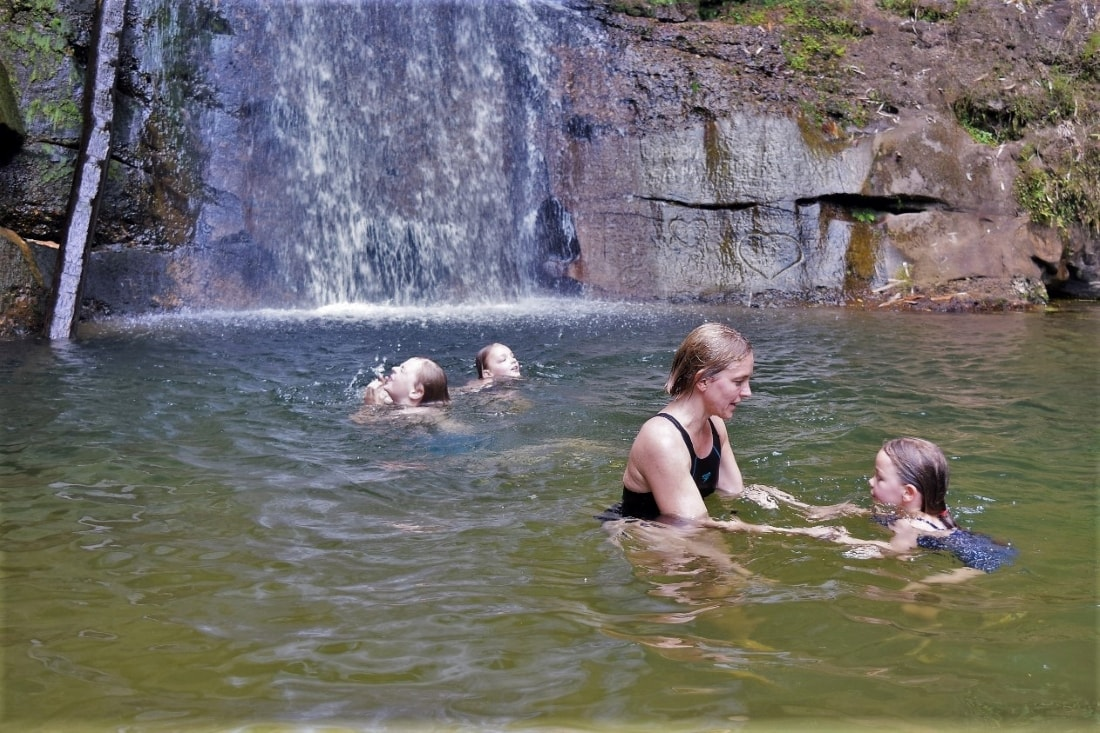 Children can enjoy Mabi Fall after short trekking (30 mins)