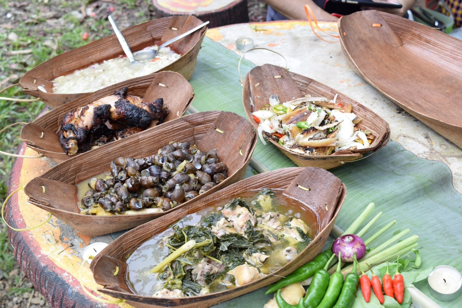 Tribal food cooked and served for lunch with Backyard Tour Malaysia