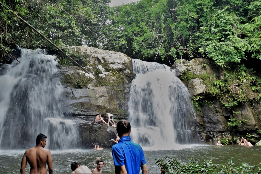 Swimming at Tanju Waterfall with Backyard Tour Malaysia