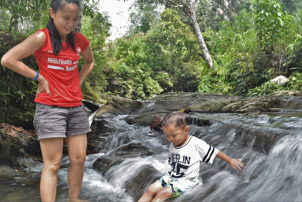 Kids friendly cascading waterfall with Backyard Tour Malaysia