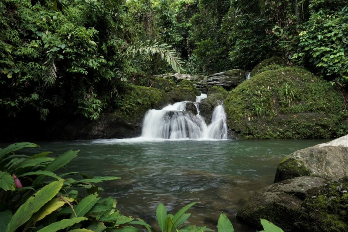 Deeper waterfall good for swimming in Parang Village, Kuching with Backyard Tour Malaysia