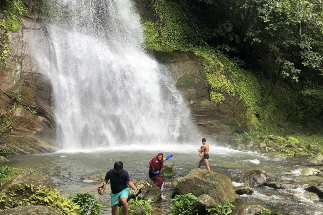 Waterfall trekking in Kuching with Backyard Tour Malaysia