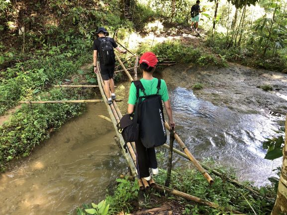 Bamboo bridge with Backyard Tour Malaysia