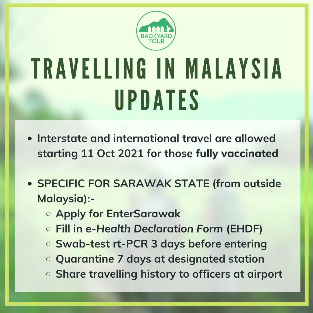 Travelling in Malaysia updates 2021 (Oct 17th)
